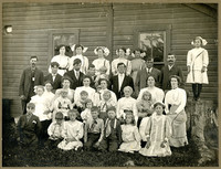 Twelve women in white dresses, Sumas (Wash.)