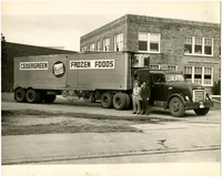 Cedergreen Frozen Foods freight truck parked at Pacific American Fisheries