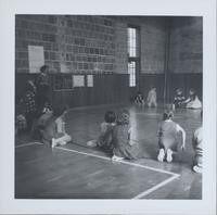 1965 Girls and Boys Playing Floor Game