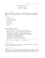 WWU Board of Trustees Minutes: 2018-08-24