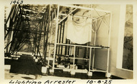 Lower Baker River dam construction 1925-10-08 Lightning Arrestor