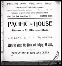 A photograph negative of a page from a Polk City Directory (p. 22) advertising