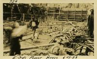 Lower Baker River dam construction 1925-06-013 E. Side Power House