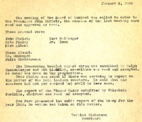 AS Board Minutes 1934-01