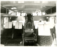 Interior view of electric rail car of the Pacific Northwest Traction Company