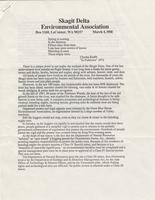 Skagit Delta Environmental Association letter