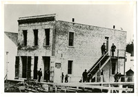 """Exterior of """"T.G. Richards Building,"""" (later known as the Washington Territorial Courthouse)"""
