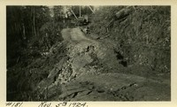 Lower Baker River dam construction 1924-11-05 Uphill access road