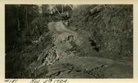 Lower Baker River dam construction 1924-11-05 Uphill access road