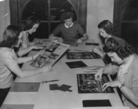 1947 Class Working on Posters