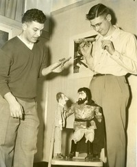1952 Allen Reimer And Richard Hawk With Puppets