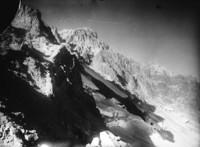 Reverse view across Yocum Ridge and upper Reid Glacier from Illumination Saddle.