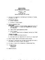 WWU Board minutes 1974 February