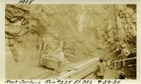 Lower Baker River dam construction 1925-09-29 Rock Surface Run #224 El.352