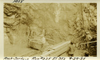 Lower Baker River dam construction 1925-09-29 Rock Surface Run #224 El.352