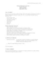 WWU Board of Trustees Minutes: 2019-04-05