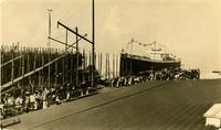 Bellingham ship launching in 1917
