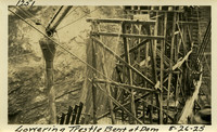 Lower Baker River dam construction 1925-08-26 Lowering Trestle Bent of Dam