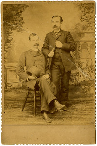 William La Hue, printer and W.H. Dobbs, owner - studio portrait