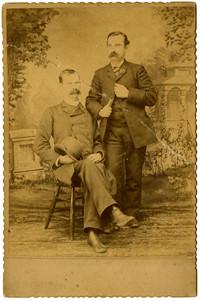 William La Hue, printer and W.H. Dobbs, owner - studio portrait
