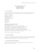 WWU Board of Trustees Meeting Records 2018 February
