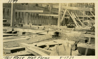Lower Baker River dam construction 1925-08-17 Tail Race Wall Forms