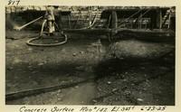 Lower Baker River dam construction 1925-06-23 Concrete Surface Run #142 El.3055
