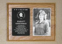 Hall of Fame Plaque: Scarlett Kanistanaux, Field Hockey (Link), Class of 1992