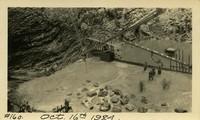 Lower Baker River dam construction 1924-10-16 Form work, concrete at base of dam, 1st pour