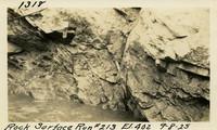 Lower Baker River dam construction 1925-09-08 Rock Surface Run #213 El.402