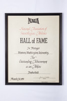 Basketball (Women's) Plaque: NAIA Hall of Fame, Jo Metzger, 1992
