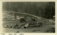 Lower Baker River dam construction 1924-08-29 Site preparation for staging area