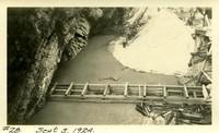 Lower Baker River dam construction 1924-09-03 Rock formation in dam foundation