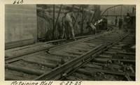 Lower Baker River dam construction 1925-06-27 Retaining Wall