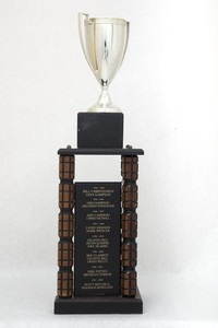 General Trophy: G. Robert Ross Memorial, WWU Athlete of the Year award (left rear side), 1986/2013