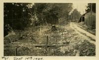 Lower Baker River dam construction 1924-09-14 Access road
