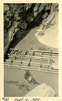 Lower Baker River dam construction 1924-09-04 Rock formation
