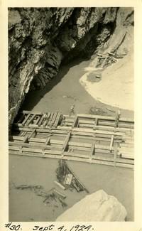 Lower Baker River dam construction 1924-09-04 Rock formation