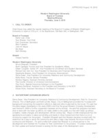 WWU Board of Trustees Minutes: 2016-06-09