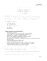WWU Board of Trustees Meeting Records 2013 July