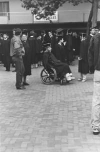1989 Commencement Ceremonies: Students Line Up