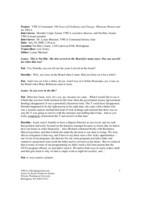 Dorothy Culjat interview [transcript]