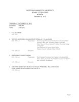 WWU Board of Trustees Packet: 2013-10-10