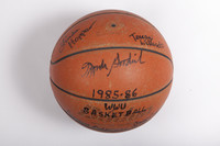 Basketball (Women's): Signed Basketball (side 1), 1985/86