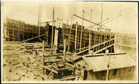 Pacific American Fisheries shipbuilding yard with several construction berths