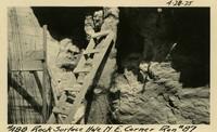Lower Baker River dam construction 1925-04-28 Rock Surface Hole N.E. Corner Run #87
