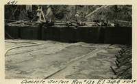 Lower Baker River dam construction 1925-05-31 Concrete Surface Run #120 El.318.8