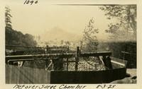 Lower Baker River dam construction 1925-08-03 Net over Surge Chamber