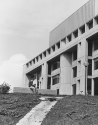 1978 Environmental Studies Building with Student