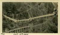 Lower Baker River dam construction 1924-10-04 Concrete pumping activity